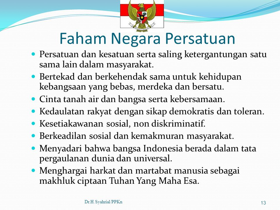 Faham Negara Persatuan