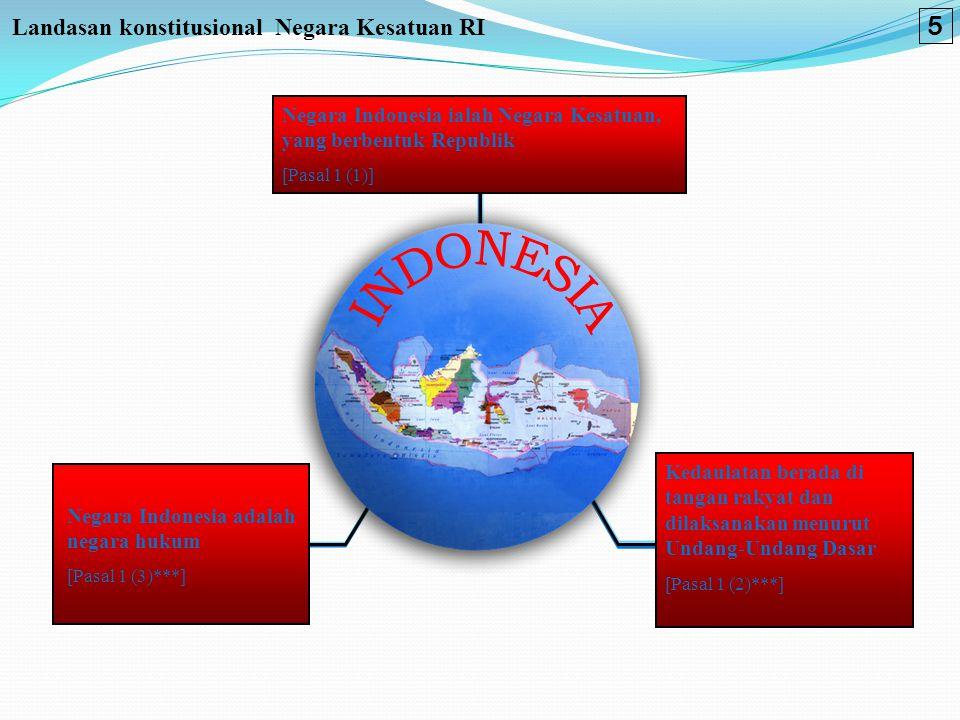 5 Landasan konstitusional Negara Kesatuan RI INDONESIA