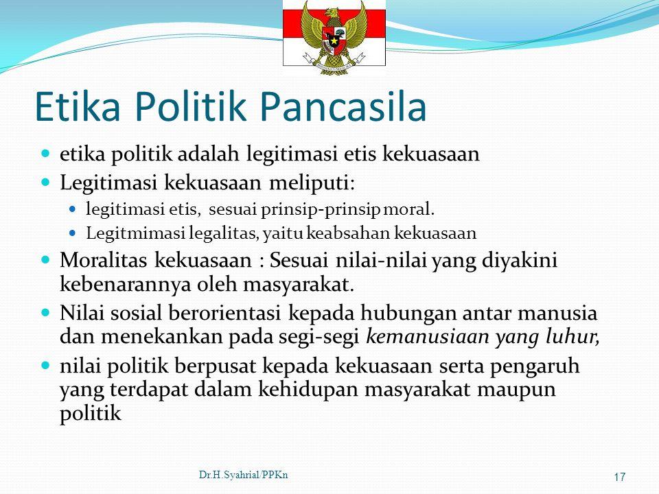 Etika Politik Pancasila