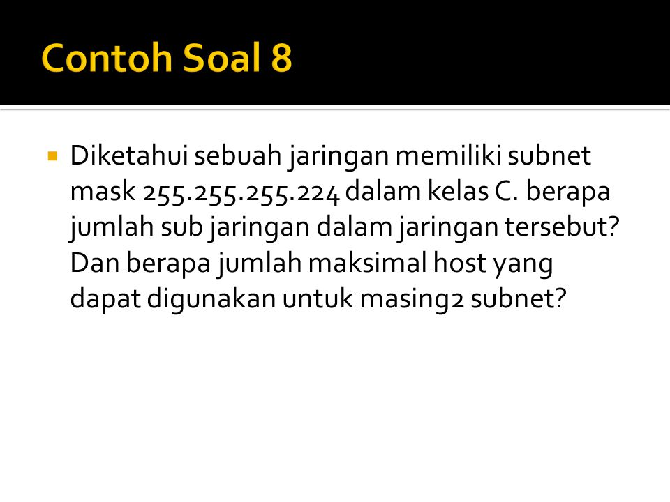 Contoh Soal 8