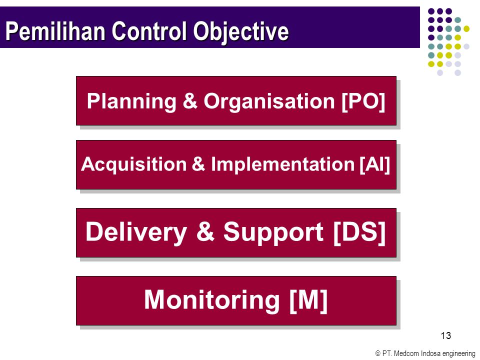 Pemilihan Control Objective