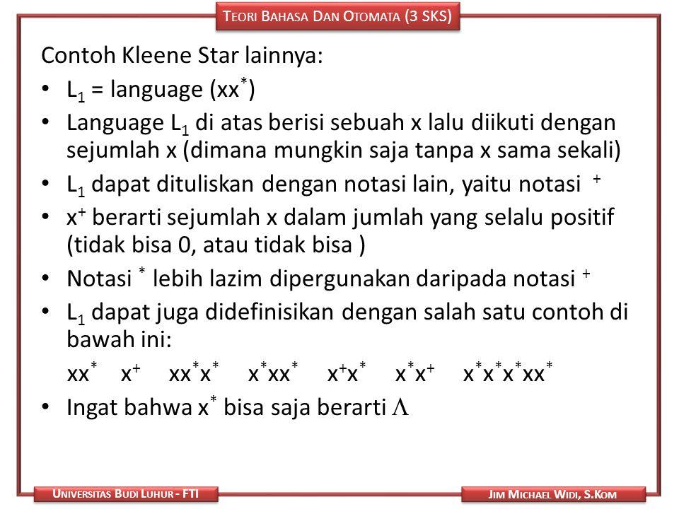 Contoh Kleene Star lainnya: