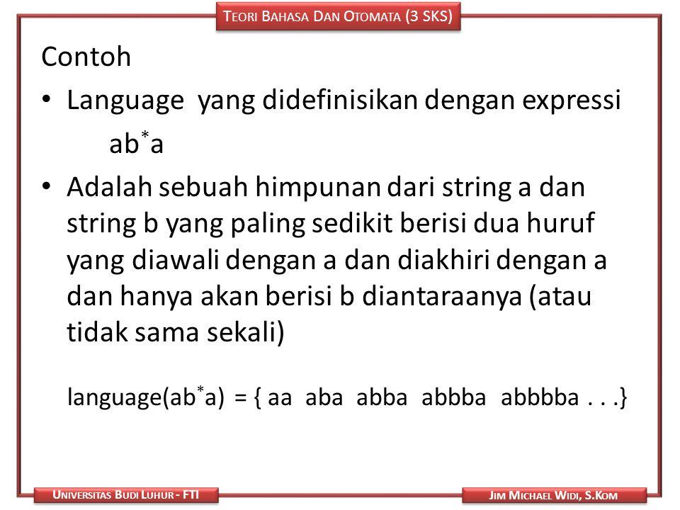 Language yang didefinisikan dengan expressi ab*a