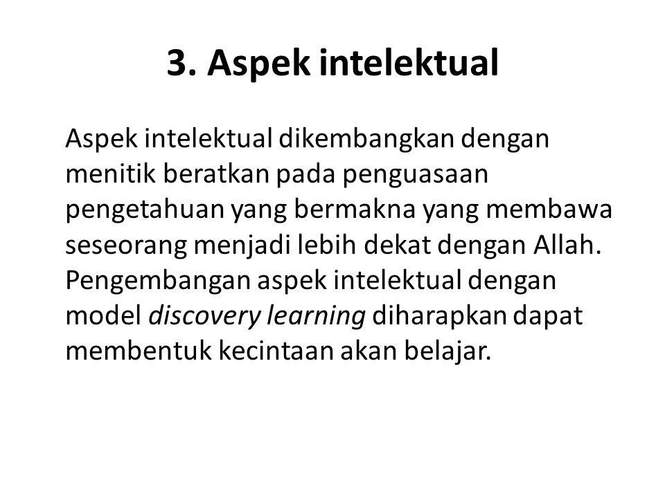 3. Aspek intelektual