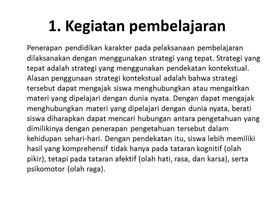 1. Kegiatan pembelajaran