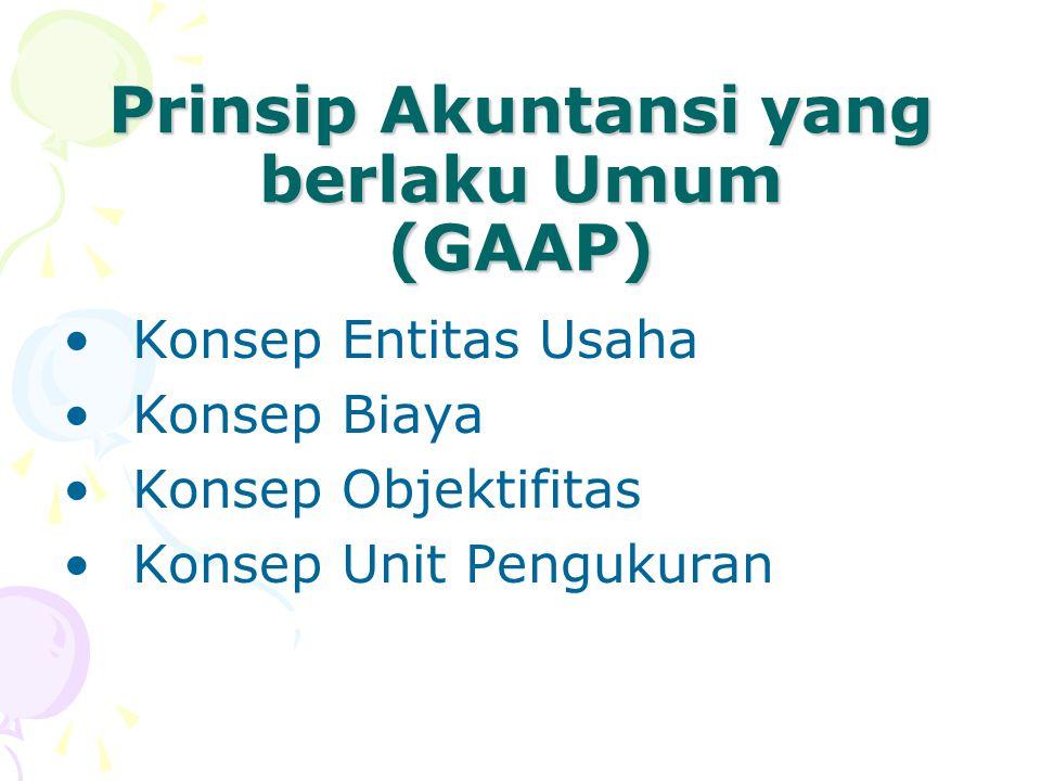 Prinsip Akuntansi yang berlaku Umum (GAAP)