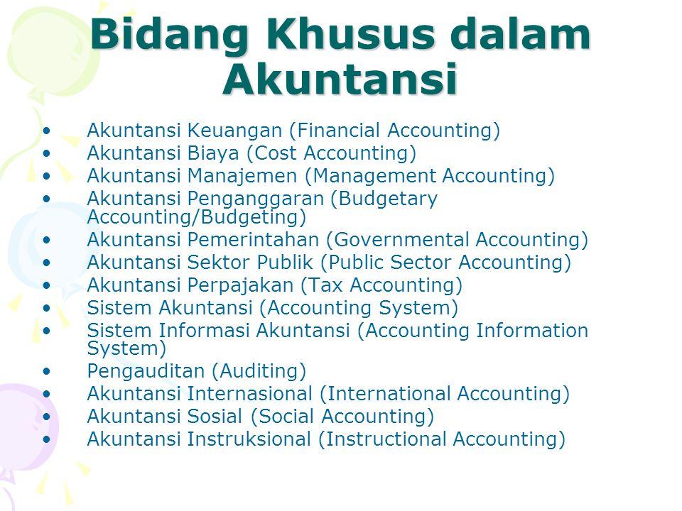 Bidang Khusus dalam Akuntansi