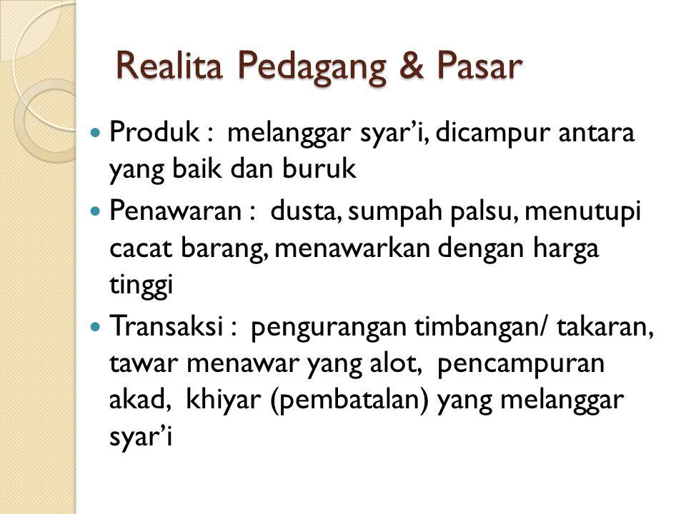 Realita Pedagang & Pasar