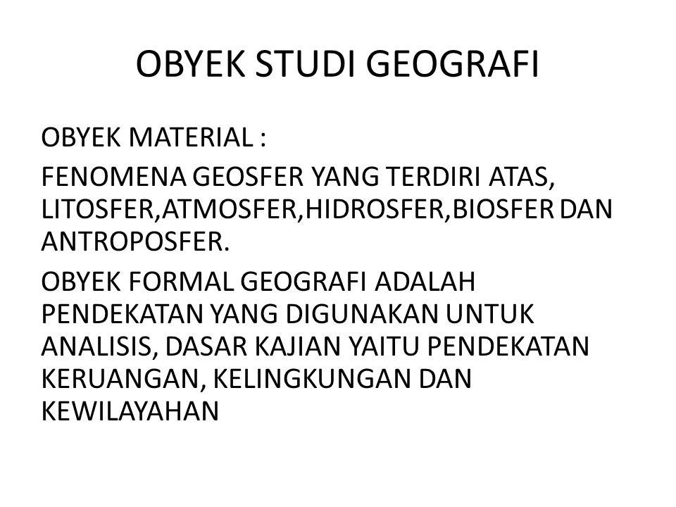 OBYEK STUDI GEOGRAFI