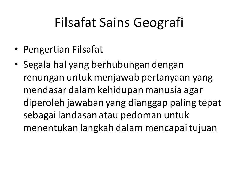 Filsafat Sains Geografi