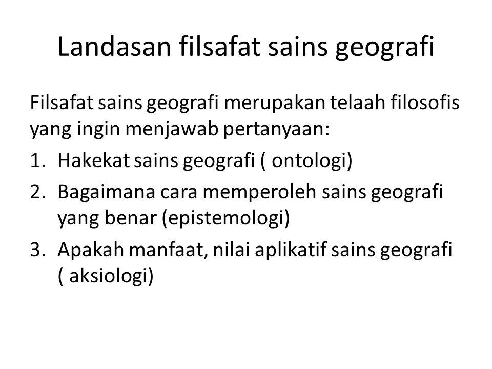 Landasan filsafat sains geografi