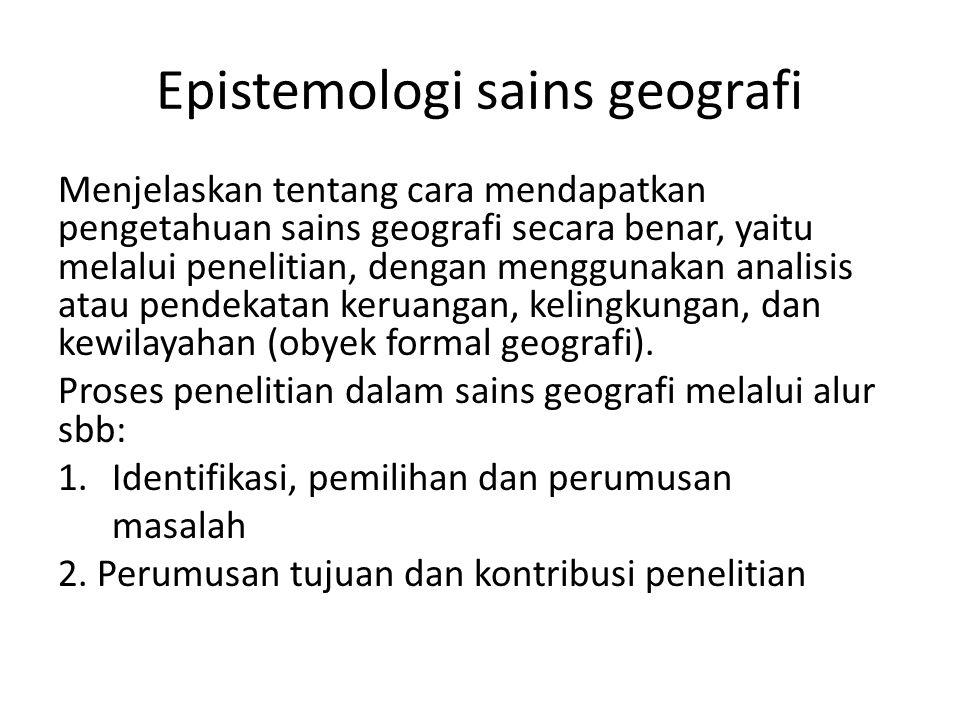 Epistemologi sains geografi
