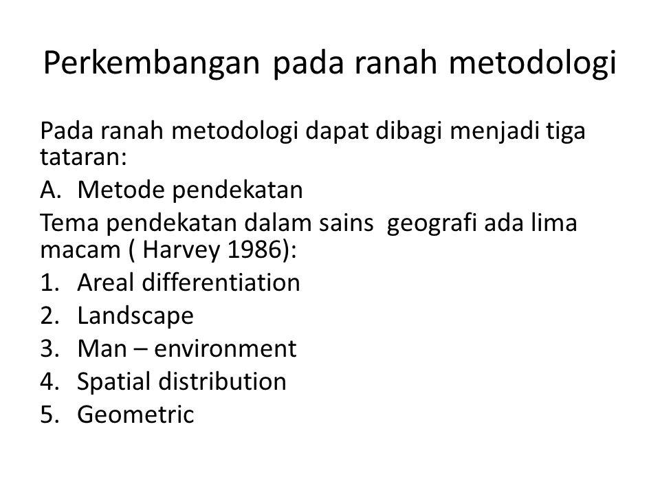 Perkembangan pada ranah metodologi