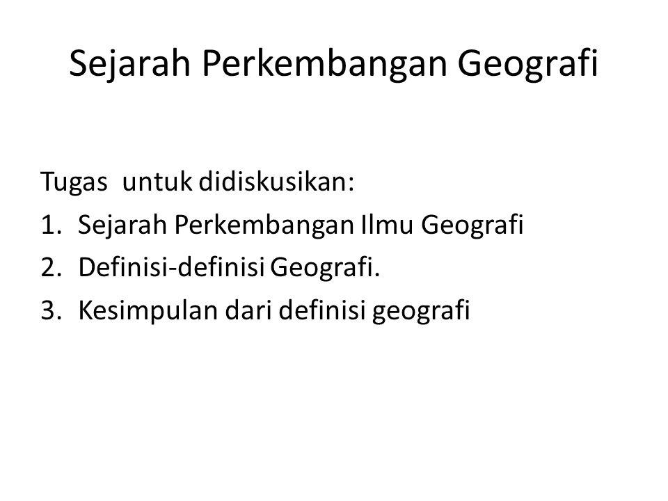 Sejarah Perkembangan Geografi
