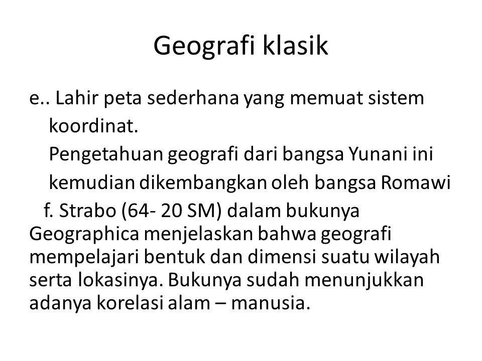 Geografi klasik