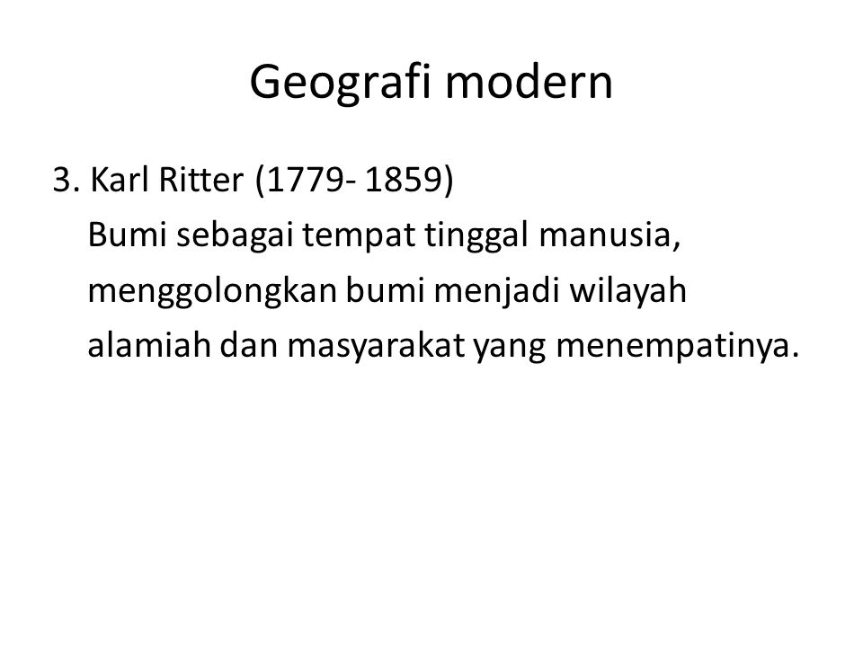 Geografi modern