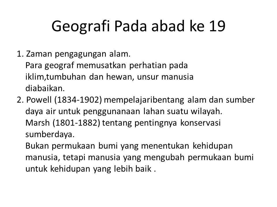 Geografi Pada abad ke 19