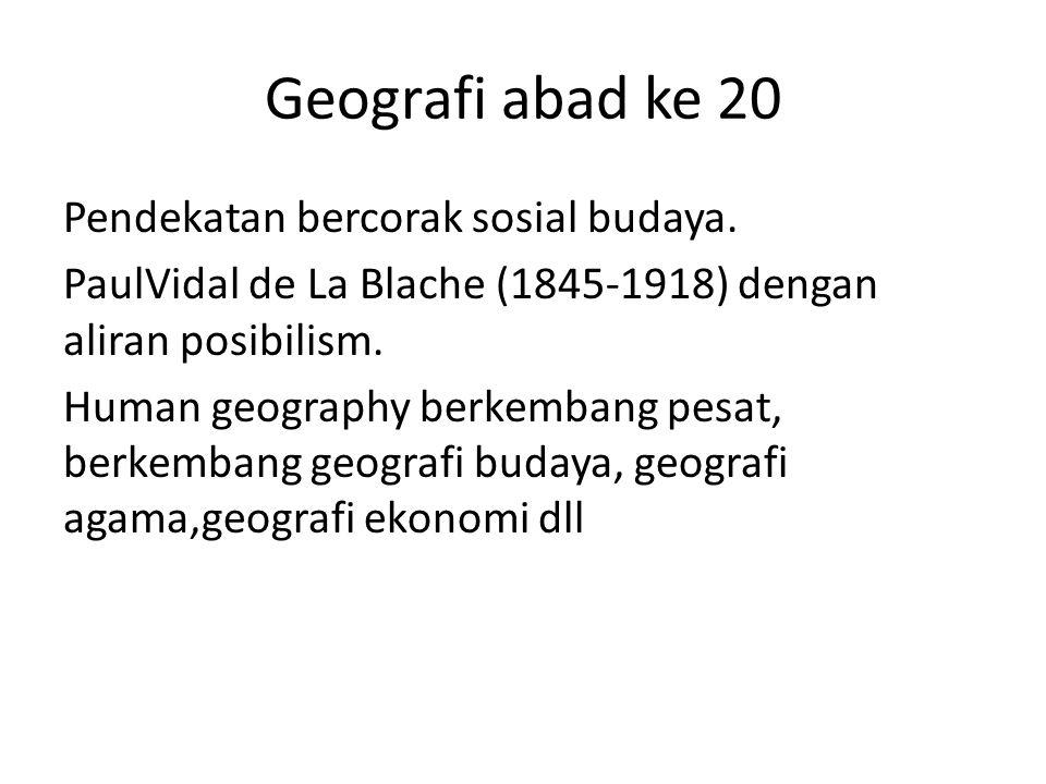 Geografi abad ke 20