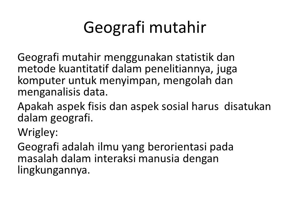 Geografi mutahir