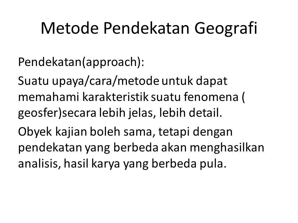 Metode Pendekatan Geografi