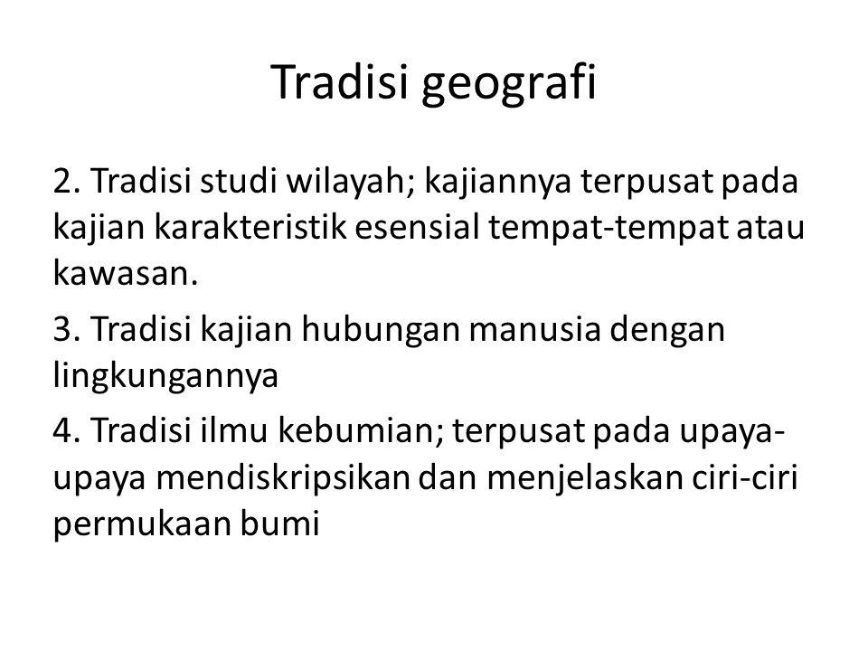 Tradisi geografi
