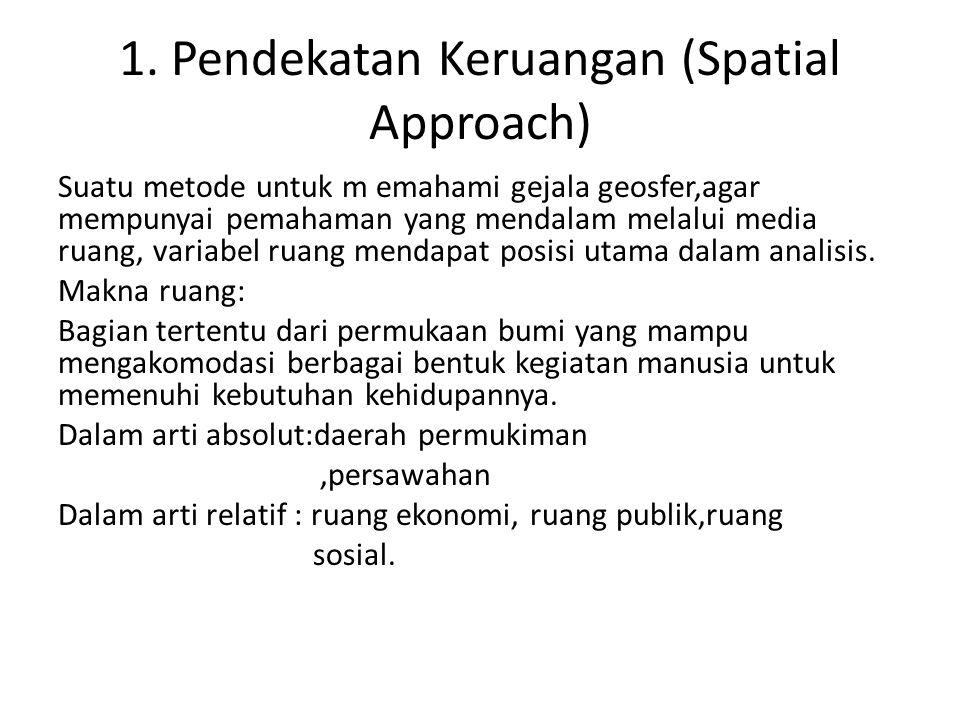 1. Pendekatan Keruangan (Spatial Approach)