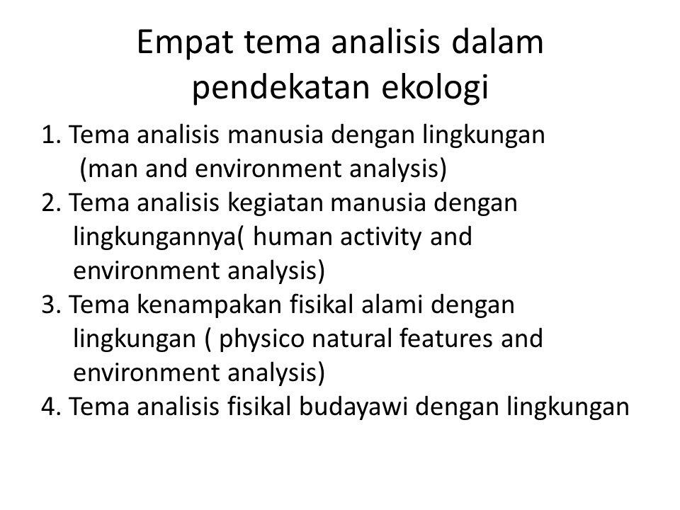 Empat tema analisis dalam pendekatan ekologi