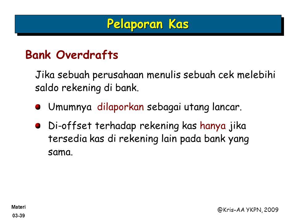 Pelaporan Kas Bank Overdrafts