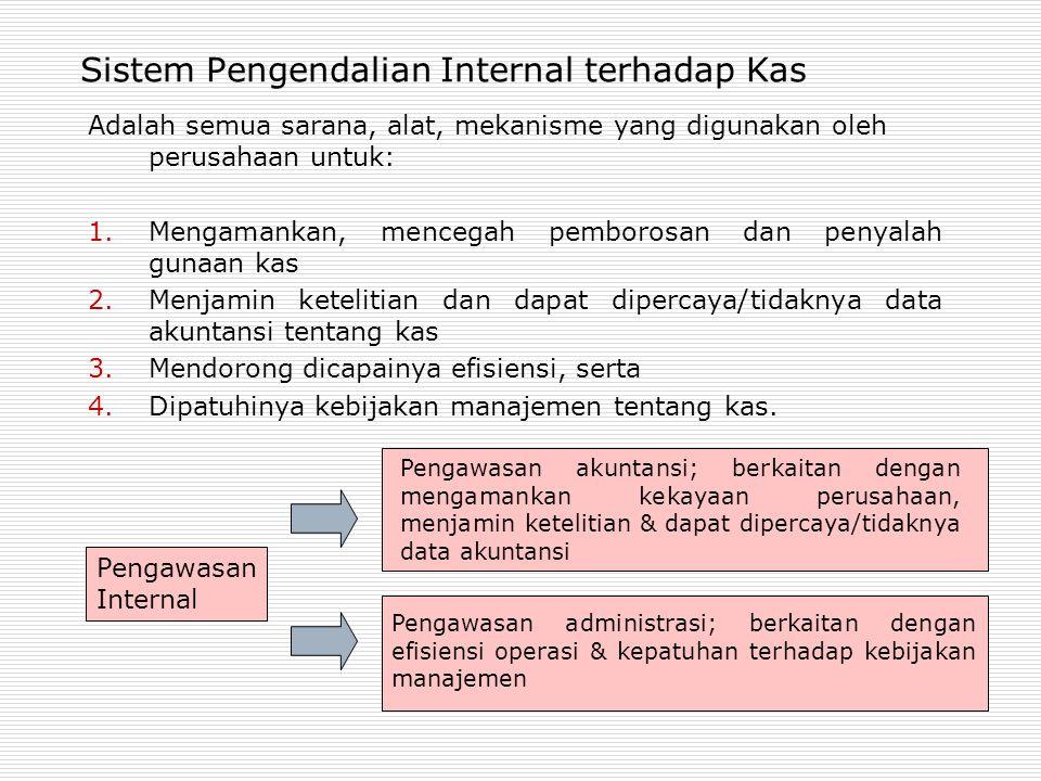 Sistem Pengendalian Internal terhadap Kas