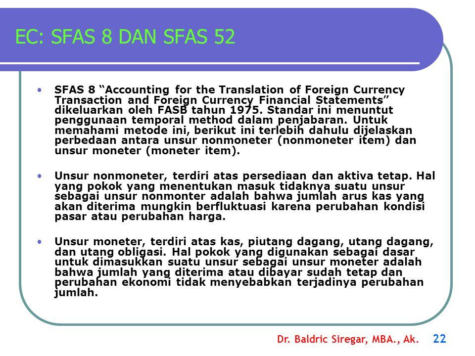 EC: SFAS 8 DAN SFAS 52