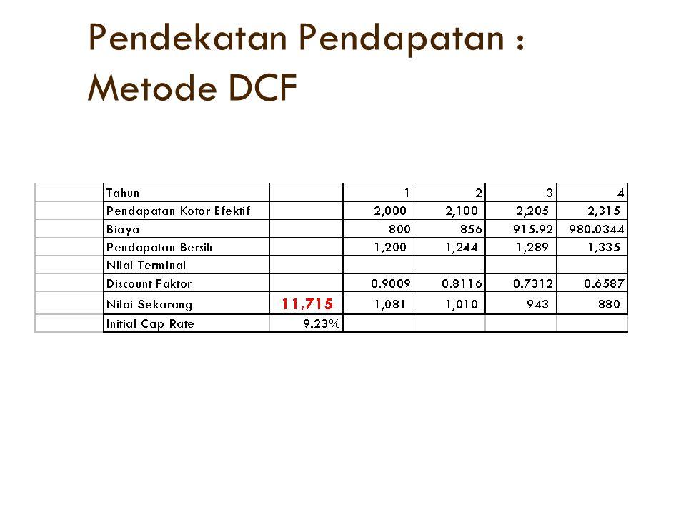 Pendekatan Pendapatan : Metode DCF
