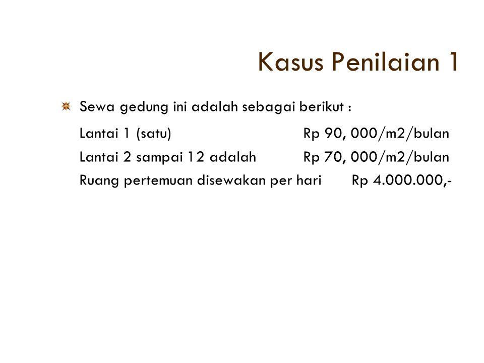 Kasus Penilaian 1 Lantai 1 (satu) Rp 90, 000/m2/bulan