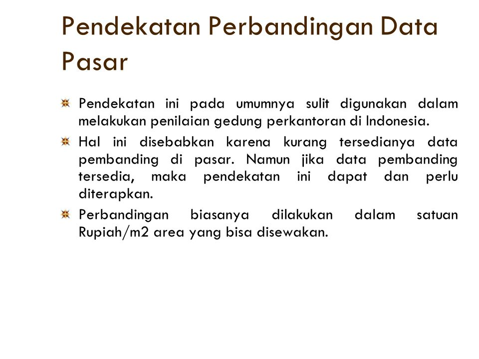 Pendekatan Perbandingan Data Pasar