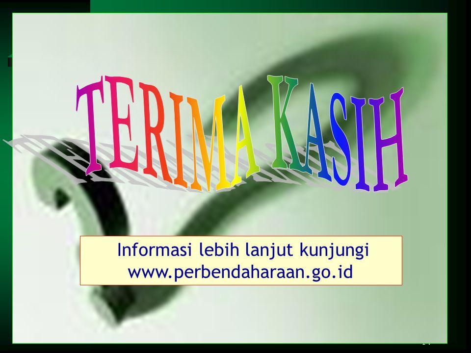 Informasi lebih lanjut kunjungi www.perbendaharaan.go.id