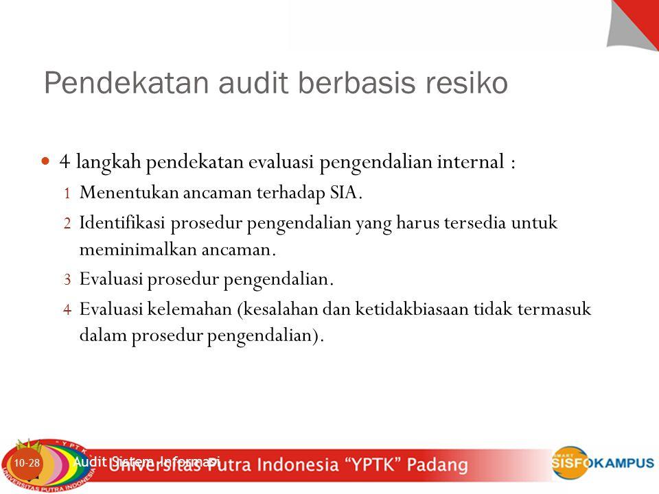 Pendekatan audit berbasis resiko