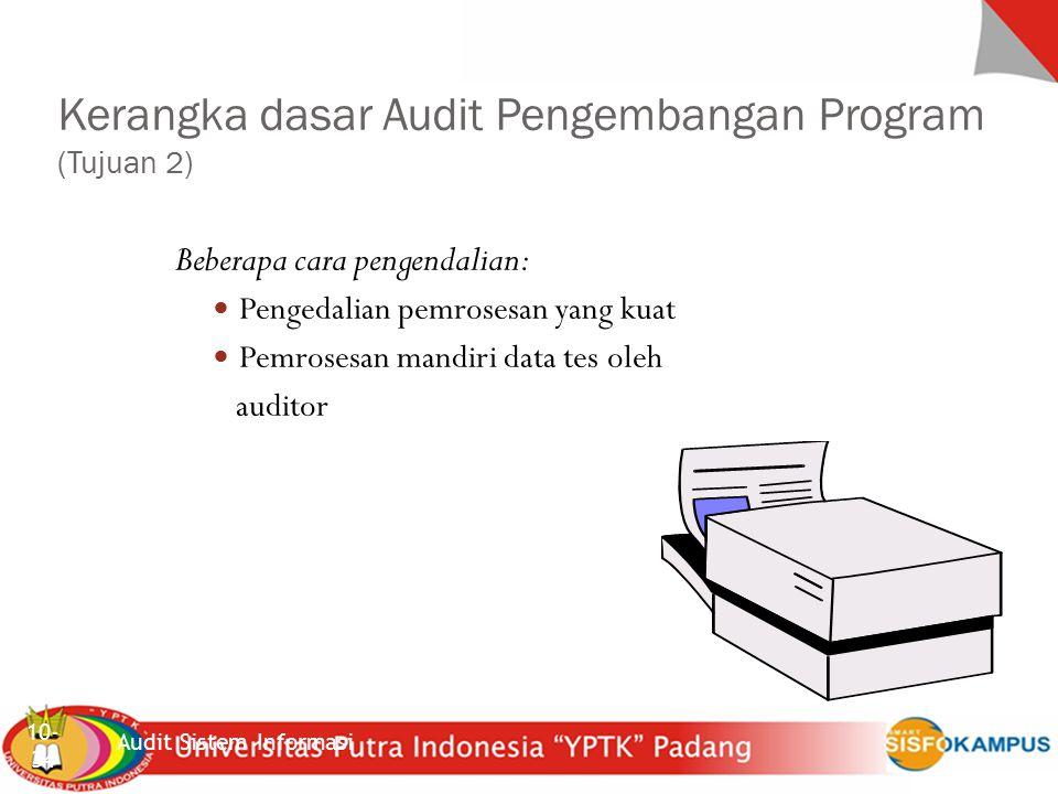 Kerangka dasar Audit Pengembangan Program (Tujuan 2)