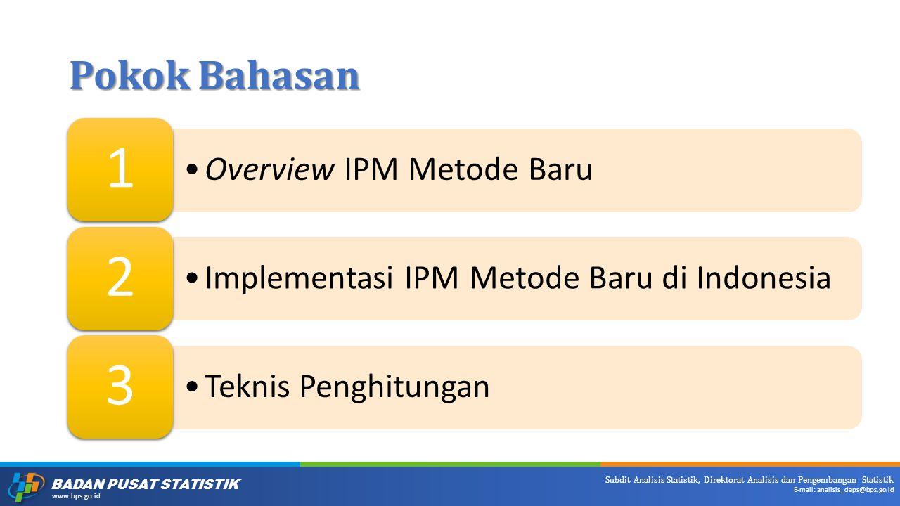 1 2 3 Pokok Bahasan Overview IPM Metode Baru