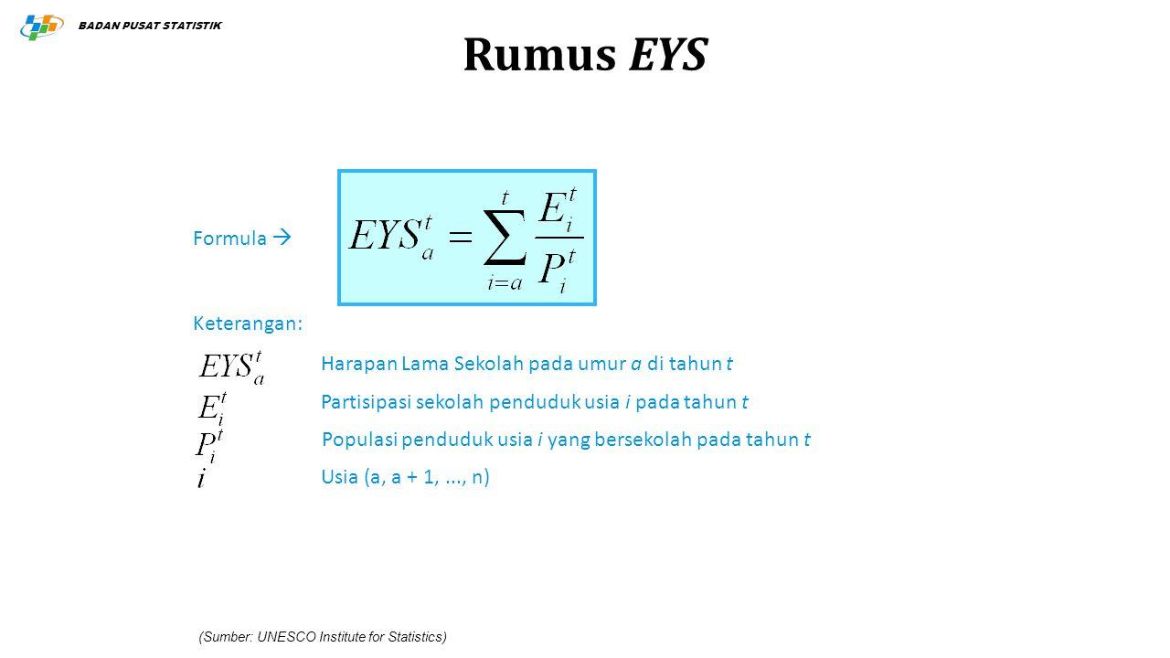 Rumus EYS Formula  Keterangan: