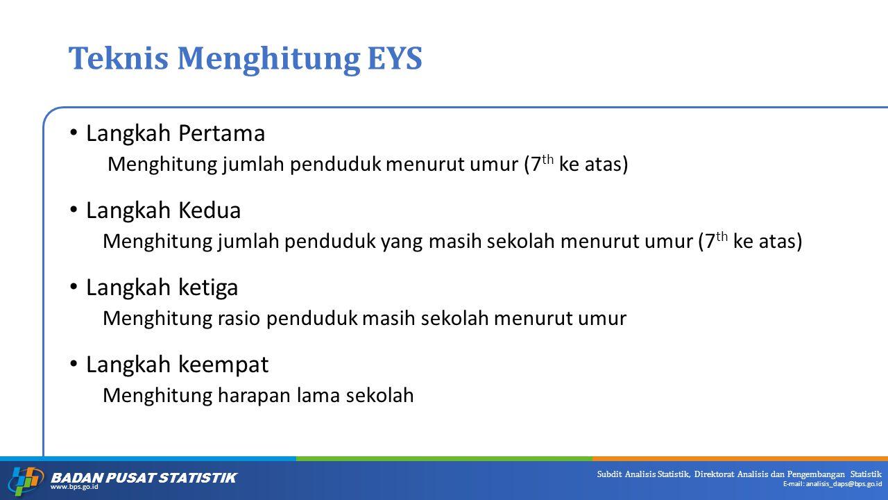 Teknis Menghitung EYS Langkah Pertama Langkah Kedua Langkah ketiga