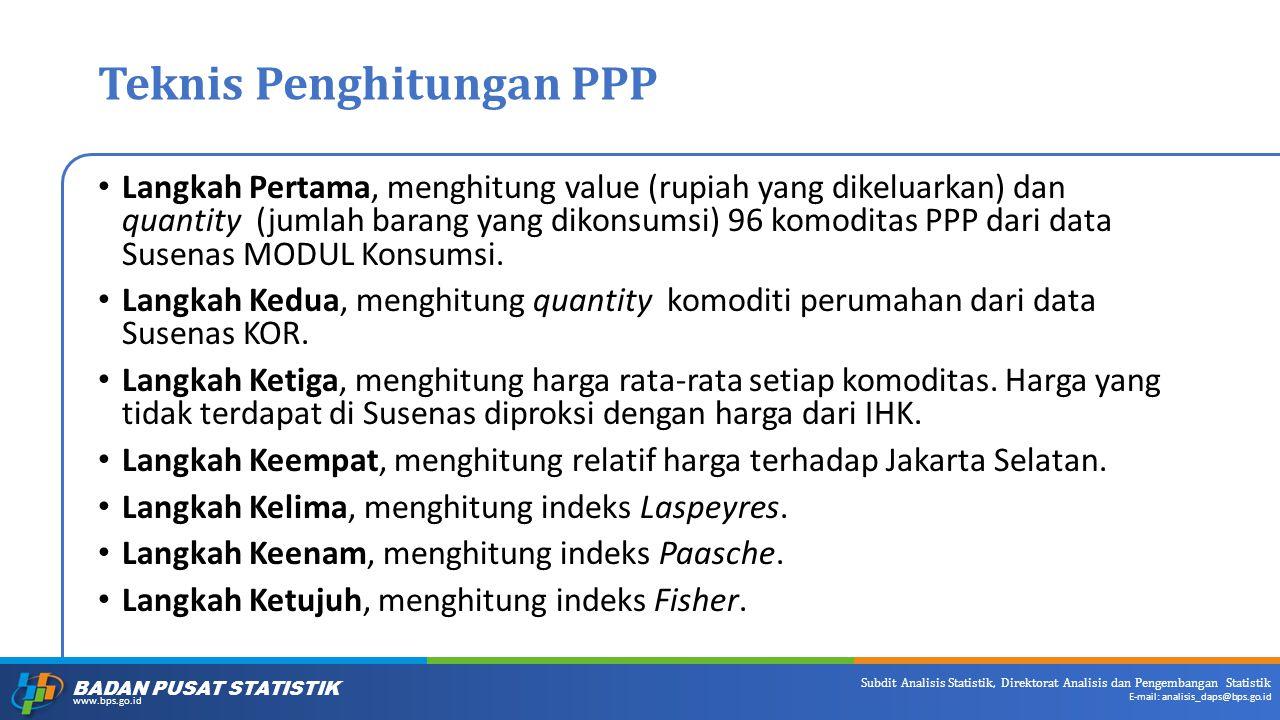Teknis Penghitungan PPP