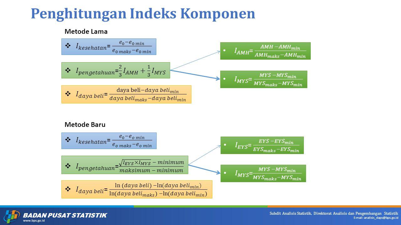 Penghitungan Indeks Komponen