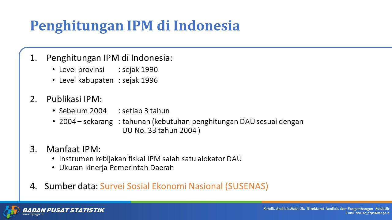 Penghitungan IPM di Indonesia
