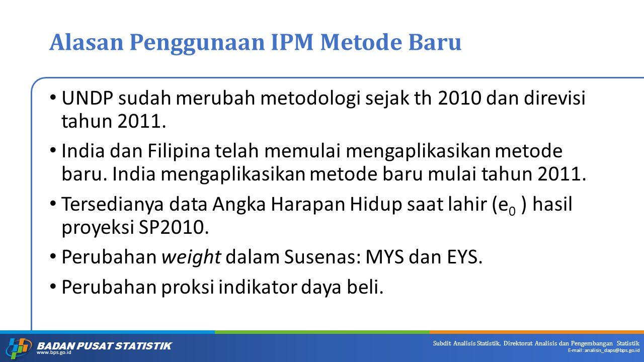 Alasan Penggunaan IPM Metode Baru
