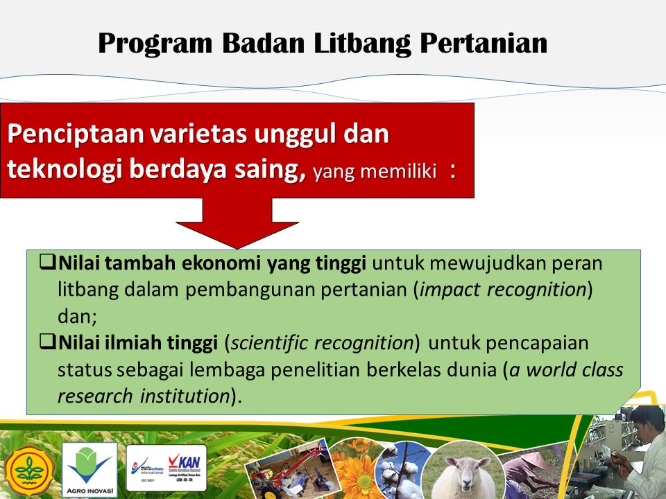 Program Badan Litbang Pertanian