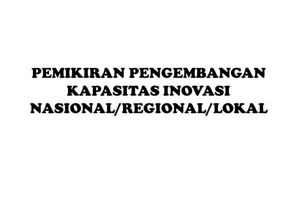 PEMIKIRAN PENGEMBANGAN KAPASITAS INOVASI NASIONAL/REGIONAL/LOKAL
