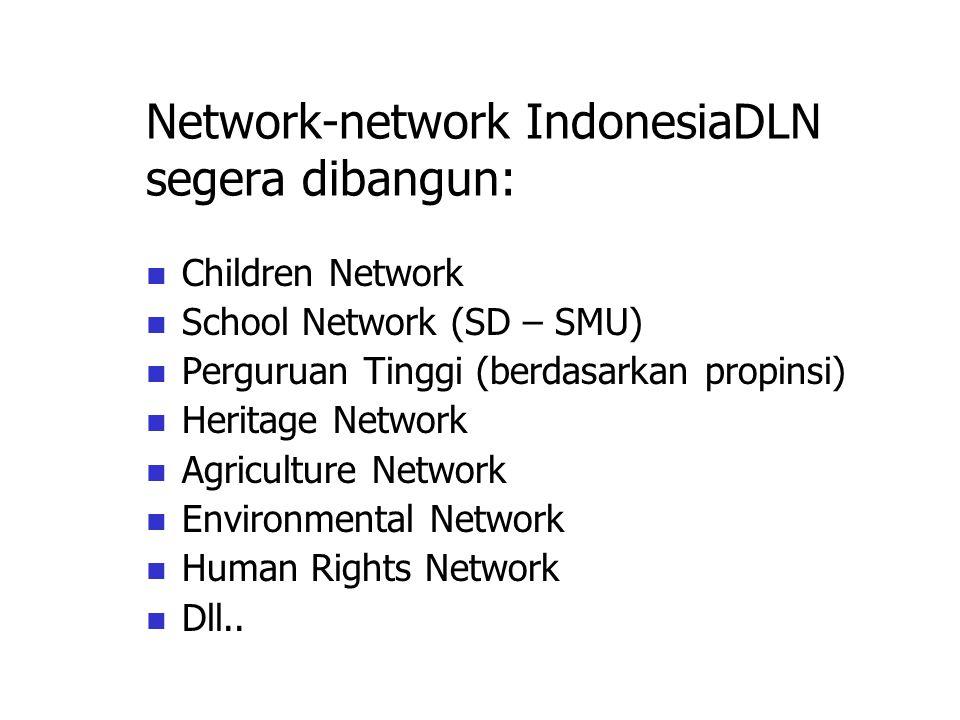 Network-network IndonesiaDLN segera dibangun: