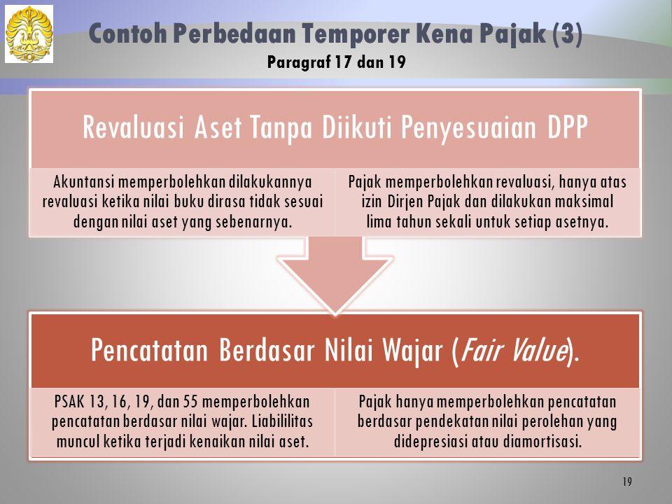Contoh Perbedaan Temporer Kena Pajak (3) Paragraf 17 dan 19