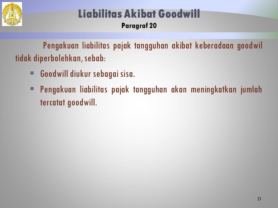 Liabilitas Akibat Goodwill Paragraf 20