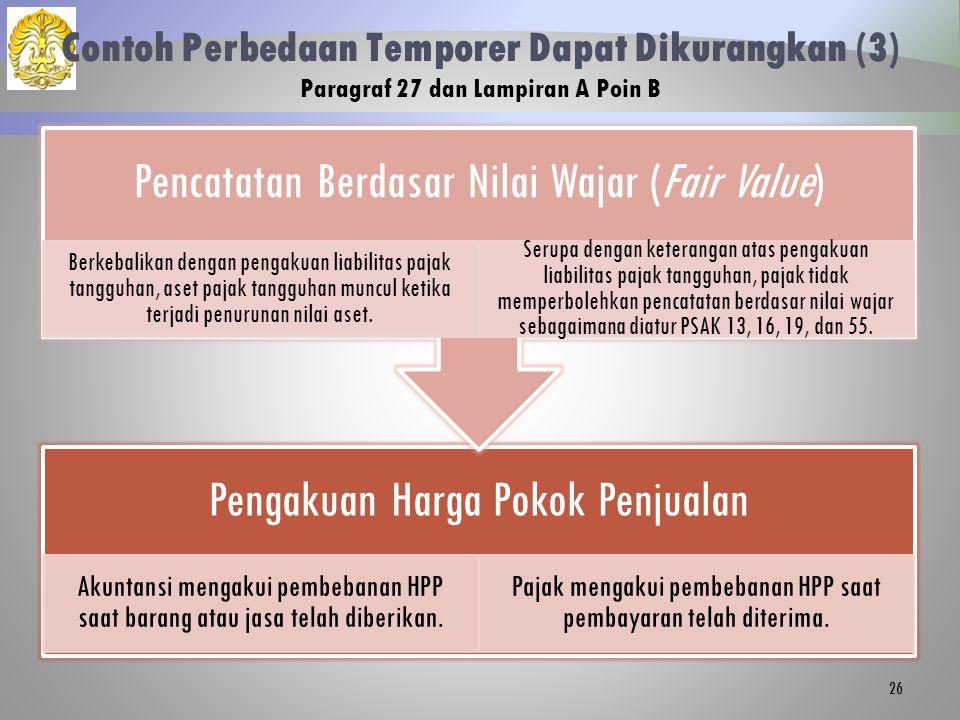 Contoh Perbedaan Temporer Dapat Dikurangkan (3) Paragraf 27 dan Lampiran A Poin B