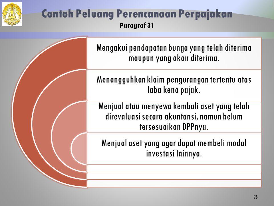 Contoh Peluang Perencanaan Perpajakan Paragraf 31